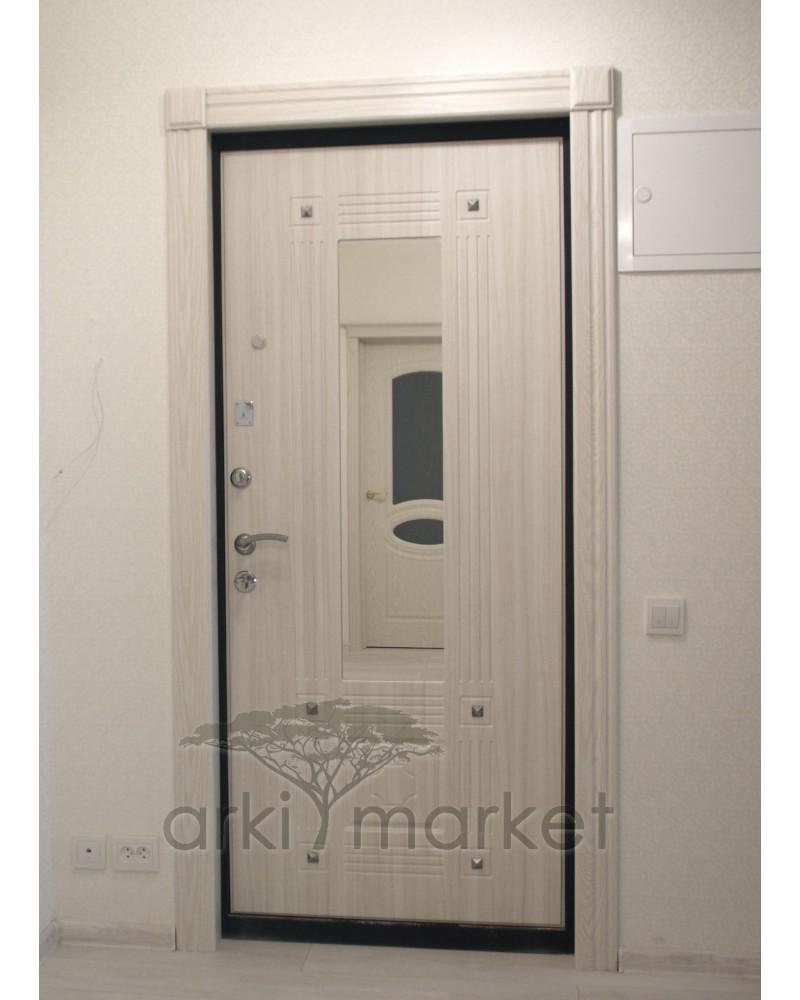 Портал входной двери Параллель ПВХ/шпон